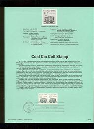 USPS Souvenir Page 88-35   2259      13.2c RR Coal Car  88-35