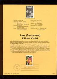 USPS Souvenir Page 88-37   2379      45c Love 88-37