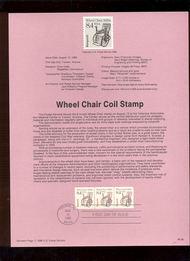 USPS Souvenir Page 88-38   2256      8.4c Wheelchair ( 88-38