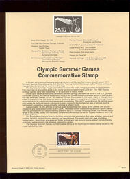 USPS Souvenir Page 88-40   2380      25c Summer Olympic 88-40