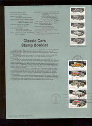 USPS Souvenir Page 88-41   2385a     25c Classic Cars B 88-41