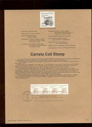 USPS Souvenir Page 88-42   2255      7.6c Carretta Coil 88-42