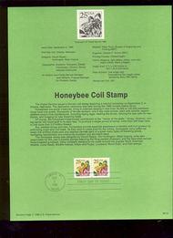 USPS Souvenir Page 88-43   2281      25c Honeybee Coil  88-43