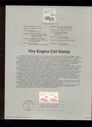 USPS Souvenir Page 88-46   2264      20.5c Fire Engine  88-46