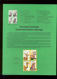 USPS Souvenir Page 88-47   2393a     25c Carousel Anima 88-47