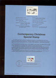 USPS Souvenir Page 88-49   2400      25c Christmas-Cont 88-49