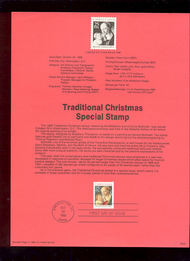 USPS Souvenir Page 88-50   2399      25c Christmas-Trad 88-50