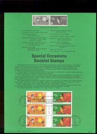 USPS Souvenir Page 88-52   2396a     25c-Love You Bklt  88-52
