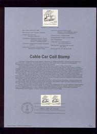 USPS Souvenir Page 88-55   2263      20c Cable Car (2) 88-55
