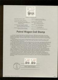 USPS Souvenir Page 88-56   2258      13c Patrol Wagon ( 88-56