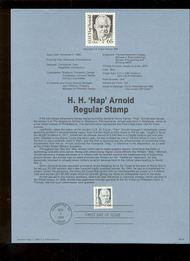 USPS Souvenir Page 88-58   2192      65cHap Arnold- 88-58