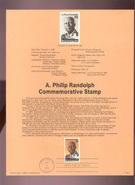 USPS Souvenir Page 89-2   2402      25c A. Philip Rand 89-2