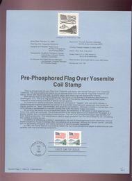USPS Souvenir Page 89-3   2280      25c Y. Coil (2) Pr 89-3