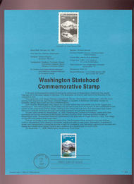 USPS Souvenir Page 89-5   2404      25c Washington 89-5