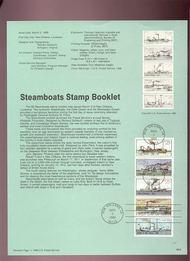 USPS Souvenir Page 89-6   2409      25c Steamboat bkl 89-6