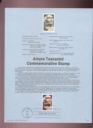 USPS Souvenir Page 89-8   2411      25c Arturo Toscani 89-8