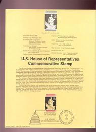USPS Souvenir Page 89-9   2412      25c House 89-9
