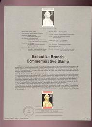 USPS Souvenir Page 89-11   2414      25c Executive Bran 89-11