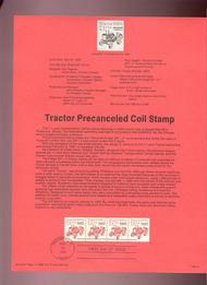 USPS Souvenir Page 89-13   2127a     7.1c Tractor Coil  89-13