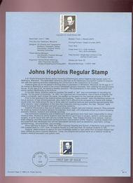 USPS Souvenir Page 89-14   2491A     $1.00 John Hopkins 89-14