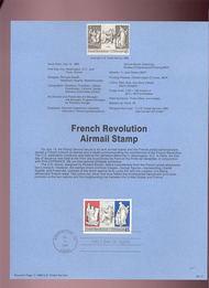 USPS Souvenir Page 89-17   C120      45c French Revolut 89-17
