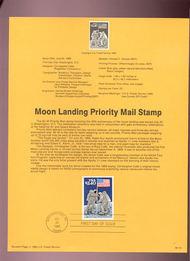 USPS Souvenir Page 89-19   2419      $2.40 Moon Landing 89-19