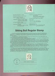 USPS Souvenir Page 89-22   2184      28c Sitting Bull 89-22