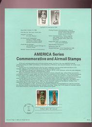 USPS Souvenir Page 89-25   2426/C121   25c & 45c Americas 89-25
