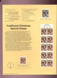 USPS Souvenir Page 89-26   2427/2427a   25c Christmas-Trad 89-26