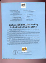 USPS Souvenir Page 89-28   2432      25c Eagle-Self-adh 89-28