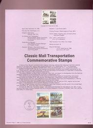 USPS Souvenir Page 89-30   2434-37    25c Classic Mail 89-30