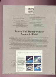 USPS Souvenir Page 89-31   C126      $1.80Future Trans. 89-31