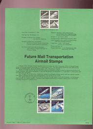 USPS Souvenir Page 89-32   C122-25    45c Future Transpo 89-32