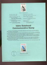 USPS Souvenir Page 90-1   2439      25c Idaho Statehoo 90-1