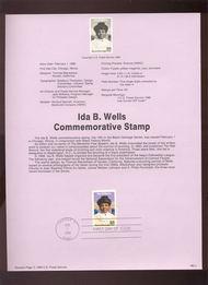USPS Souvenir Page 90-3   2442      25c Ida B. Wells 90-3