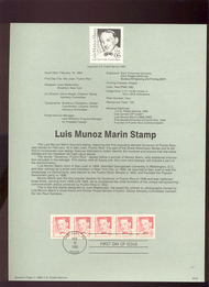 USPS Souvenir Page 90-6   2173      5c Luis Munoz Mari 90-6