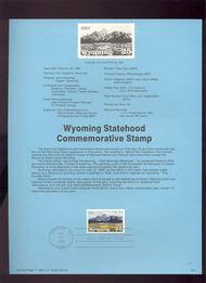 USPS Souvenir Page 90-7   2444      25c Wyoming 90-7