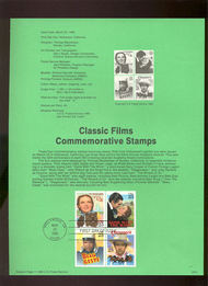 USPS Souvenir Page 90-8   2445-8     25c Movies, Block 90-8