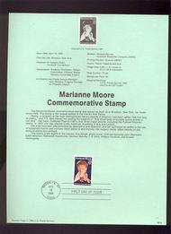 USPS Souvenir Page 90-9   2449      25c Marianne Moore 90-9