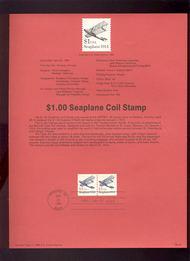 USPS Souvenir Page 90-10   2468      $1.00 Seaplane, Pa 90-10