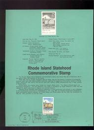 USPS Souvenir Page 90-13   2348      25c Rhode Island 90-13