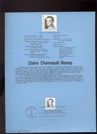 USPS Souvenir Page 90-18   2186      40c Claire Lee Che 90-18