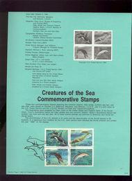 USPS Souvenir Page 90-20   2508-11    25c Sea Creatures 90-20