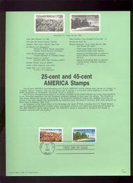 USPS Souvenir Page 90-21   2512/C127   25c/45c America 90-21