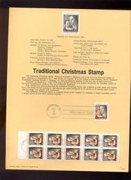 USPS Souvenir Page 90-23   2514/14a    25c Christmas-Mado 90-23
