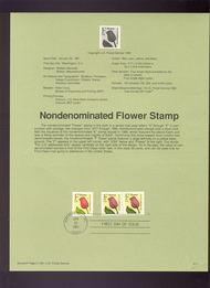USPS Souvenir Page 91-1   2517-8     (29c) F Flower 91-1