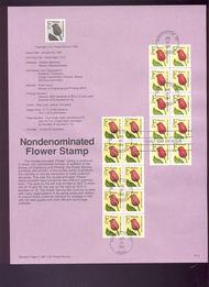 USPS Souvenir Page 91-2   2519-20    (29c) F Flower 2 91-2