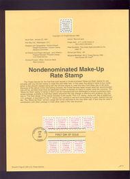 USPS Souvenir Page 91-3   2521      4c Makeup Rate 91-3