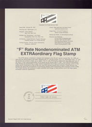 USPS Souvenir Page 91-4   2522      (29c) F Plastic  91-4