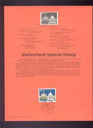 USPS Souvenir Page 91-7   2532      50c Switzerland 91-7